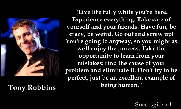 Anthony robbins live life fully charged