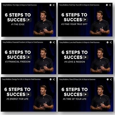 6 Stappen Naar Succes - Tony Robbins Video's - 1
