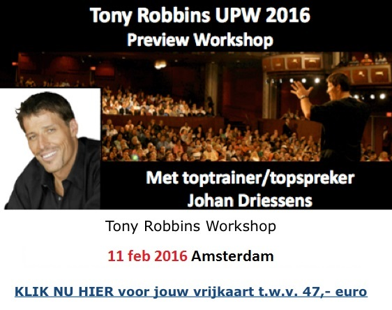 Tony Robbins Workshop Nederland